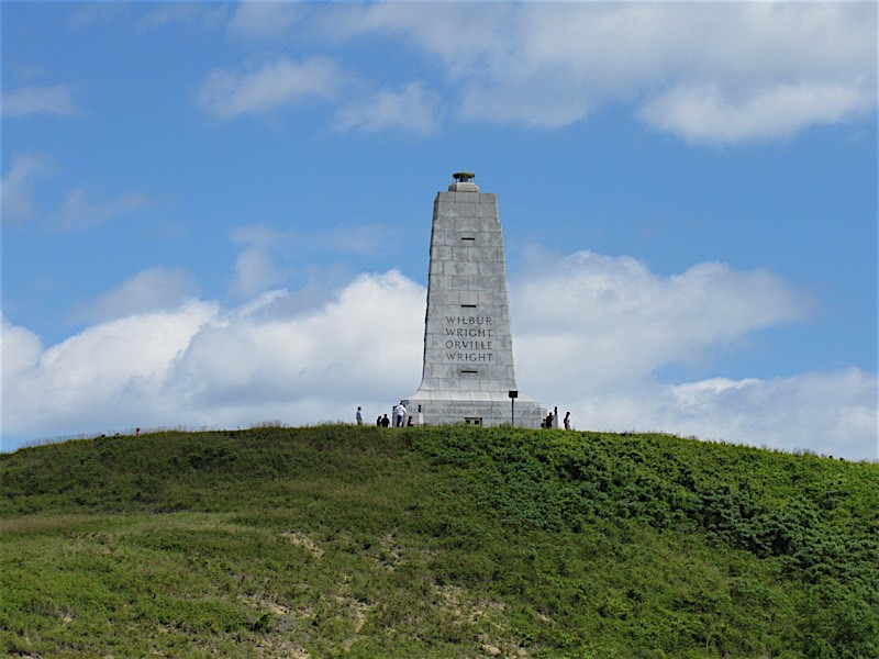 View of memorial from bottom of Kill Devil Hill