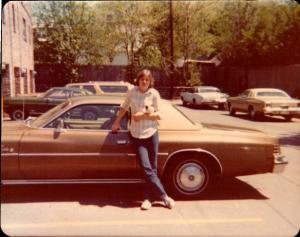 Me with the Cordoba circa 1970. Yes it did have Corinthian Leather