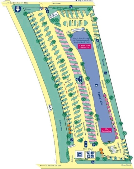 St. Augustine Beach KOA campground map