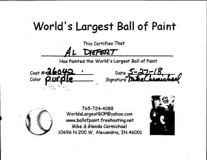 Al's certificate