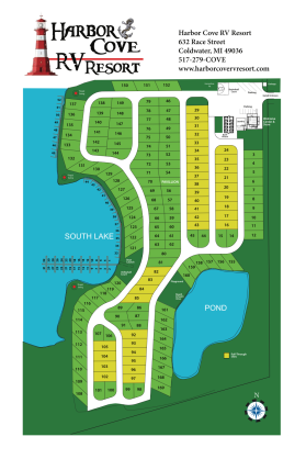 Harbor Cove RV Resort campground map