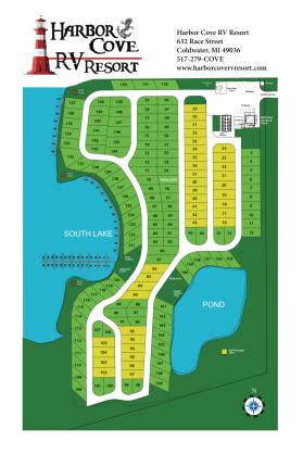 Harbor Cove RV Resort campground map