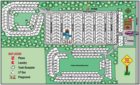 Silver Creek RV Resort Campground Map