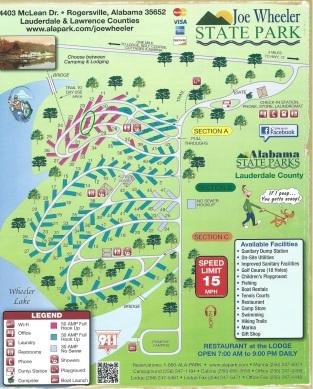 Joe Wheeler State Park Campground Map
