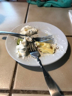 What's left of the Key Lime pie