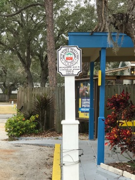 Trolley Tour stop at the campground