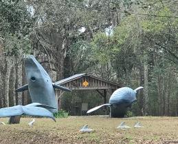 9/11 Whale Sculptures