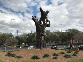 Library Oak Tree Fort Sculpture