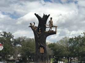 Library Oak Tree Fort Sculpture