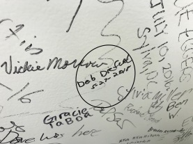 Signed the Wall of Fame