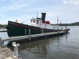 Tugboat tied up on Kalamazoo River