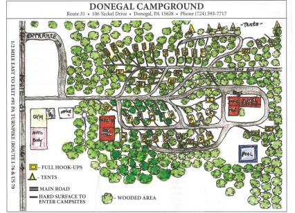 Donegal Campground Map