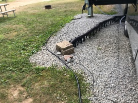 blocks purchased to secure sewer hose