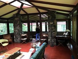 Balter House living room, sun room