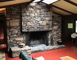 Balter House fireplace