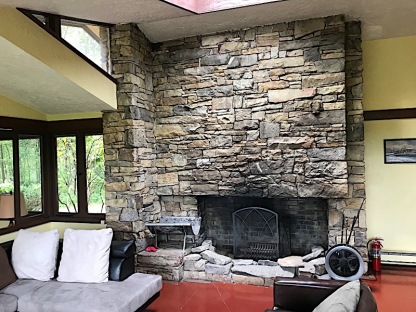 Blum House fireplace