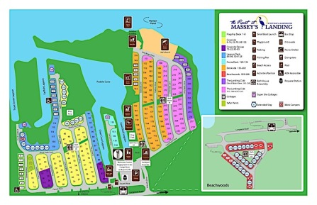 The Resorts at Massey's Landing map