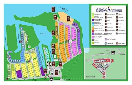 The Resorts at Massey's Landing map