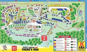 louisville South KOA site Map