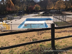 Pool - Closed for season with no cover