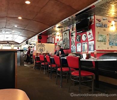 Inside Iggy's diner